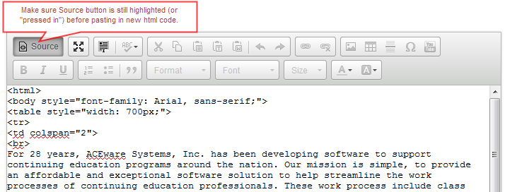 Create HTML Formatted Emails | ACEware Systems, Inc.