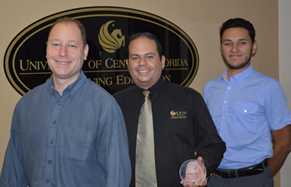 The ACE recognition was shared with his team members - Marcos Kochmann (left) and Ricardo Suarez (right)