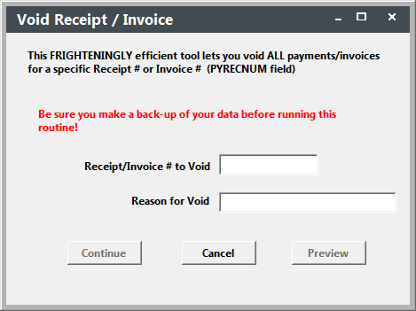 void receipt invoice tool